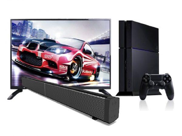 TechX 40″ Smart TV +30″ Sound Bar + Sony PlayStation 4