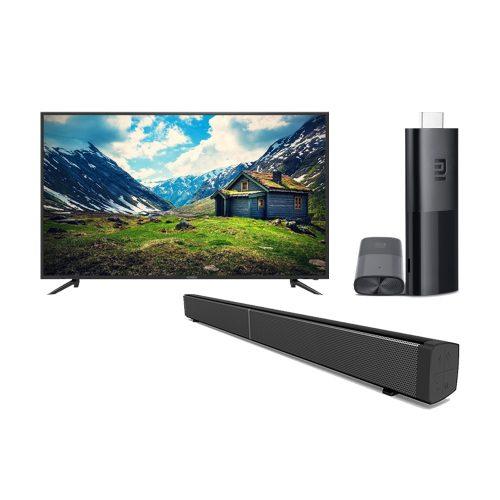 "Konic 65″ 4K Ultra HD TV+ MI Android TV Stick + 30"" Sound Bar"
