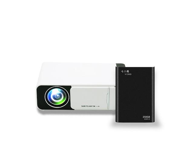 TechX Pro X HD Projector + External Hard Drive 80GB