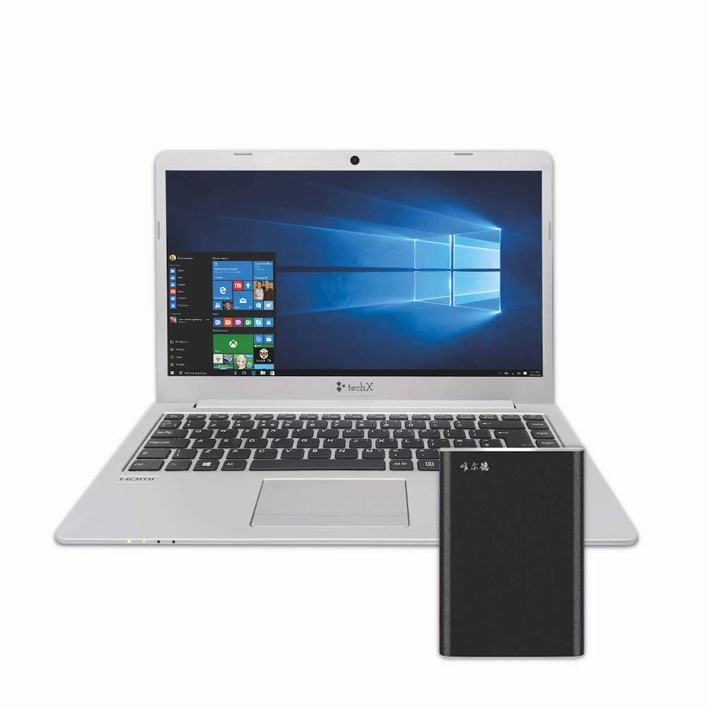 TechX Laptop + 256 GB External Hard Drive