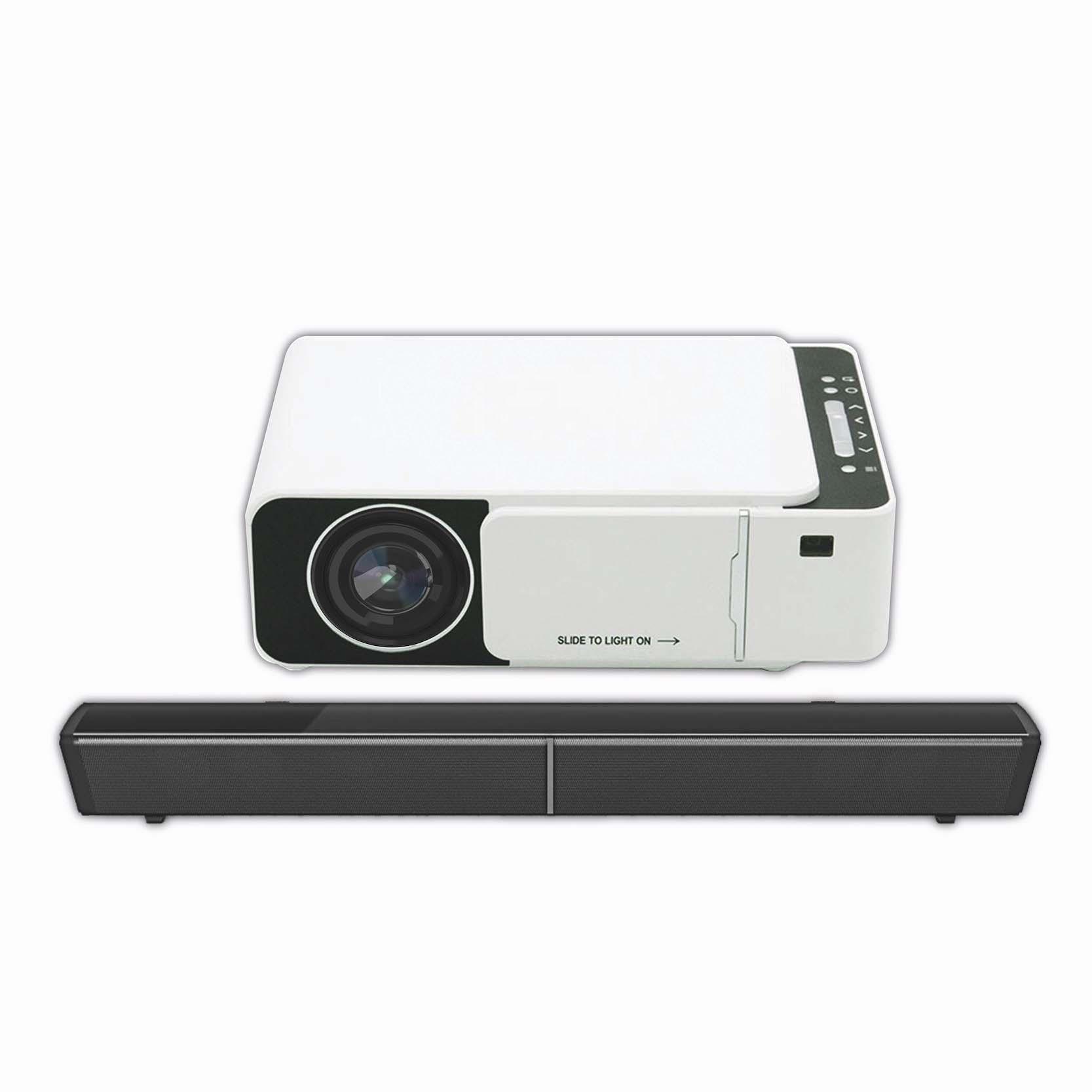 "TechX Pro X HD Projector + TechX 30"" Sound Bar"