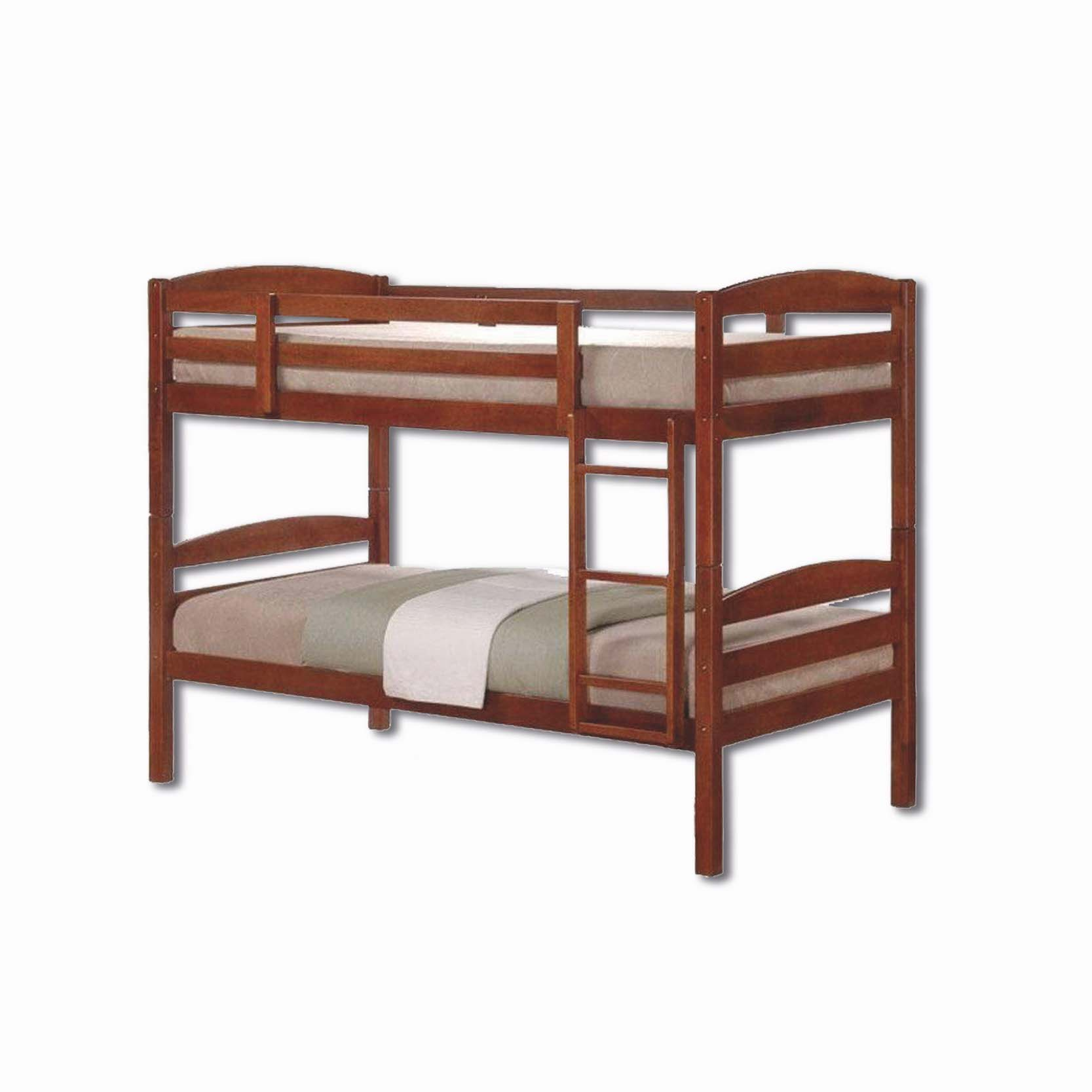 Single Bunk Bed Frame with Mattress