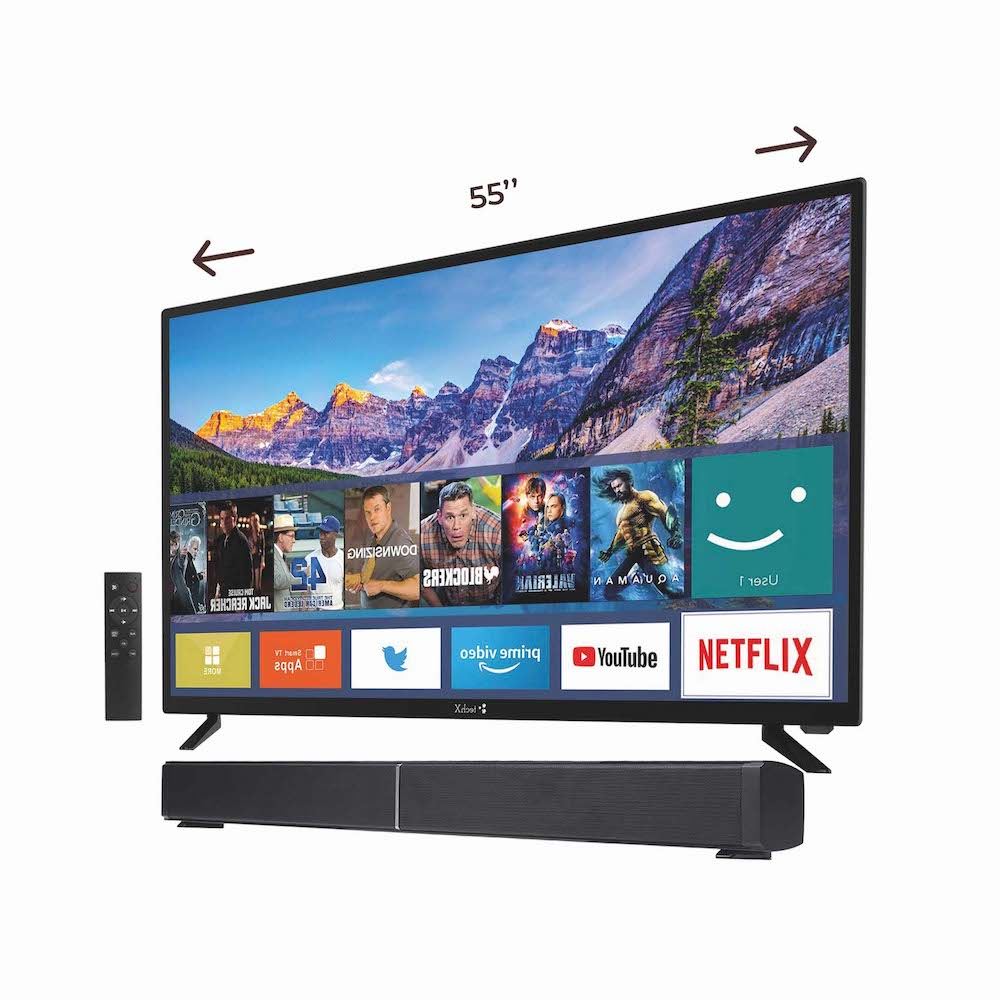 TechX 55″Smart TV + TechX 30″ Sound Bar